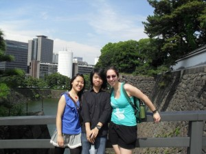 Exploring the Imperial Palace Gardens with other members of UTRIP