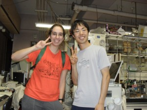 Having fun with a labmate