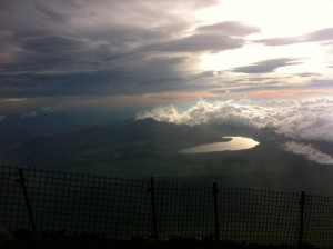 The view from Mt. Fuji during the climb down