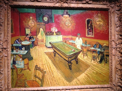It is a real painting of Vincent van Gogh, which is preserved in the art gallery of Yale.