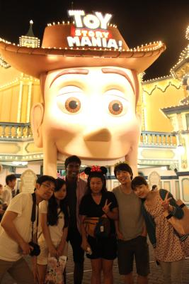 At Tokyo DisneySea with some old friends and some new