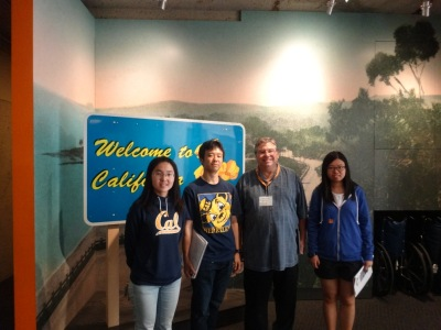 Photo with our tour guide and classmates at Oakland Museum of California