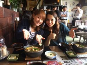 Eating Houtou in Yamanashi