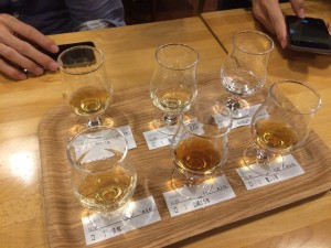 Whiskey tasting at the Suntory Whiskey Distillery
