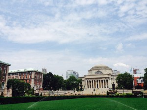 The Beautiful campus of Columbia University