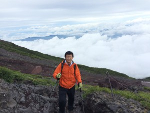 Heading to the top of Mount Fuji