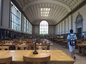 Inside the main library of UC Berkeley
