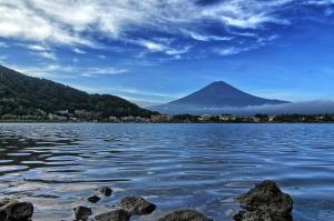 Mt. Fuji overlooking Kawaguchiko