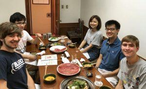 Eating sukiyaki